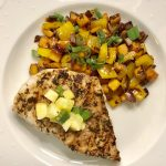 Caribbean Spiced Mahi Mahi with Sweet Potato Saute