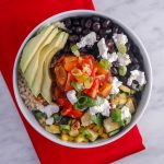 Roasted Corn, Zucchini & Black Bean Quinoa Bowls with Cumin-Lime Dressing
