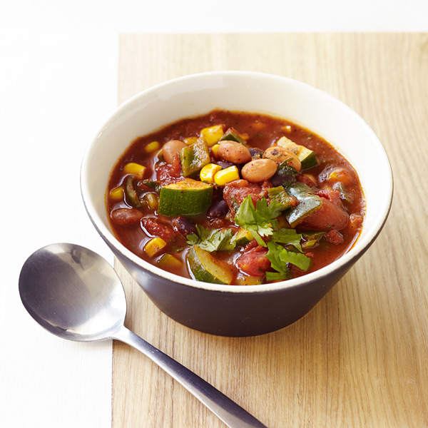 Vegetarian or health-conscious friends in the house? Go for my Spicy VegetarianChili recipe for Weight Watchers. It's satisfying and substantial without breaking the calorie bank & the perfect base for fun toppings.